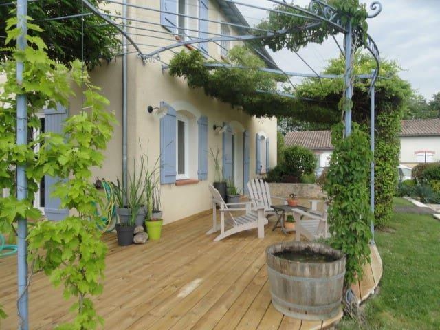Maison Tout Confort avec piscine proche aéroport - Saint-Sauveur