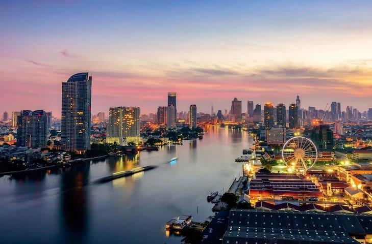 Asiatique河畔夜市/Chaopraya River View江景房/ 3rooms