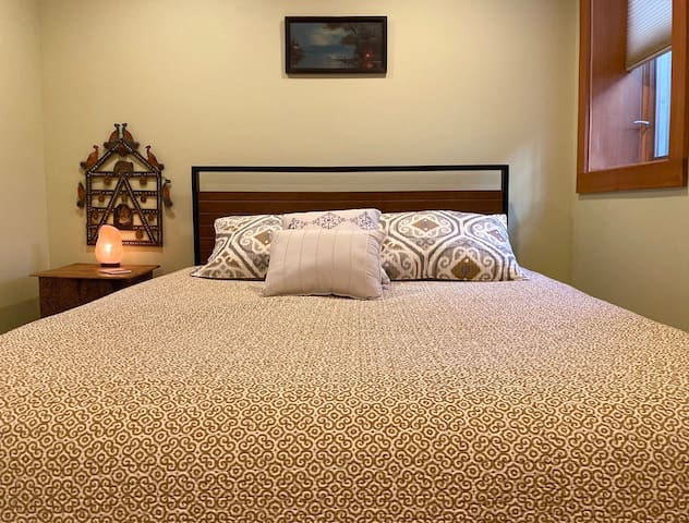 Relax in your comfy bed.