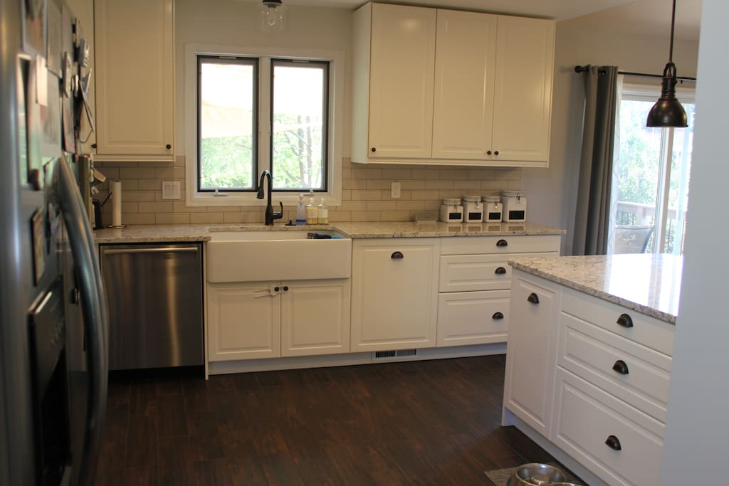 Fully renovated, bright, open kitchen.  Plenty of space for cooking family meals.