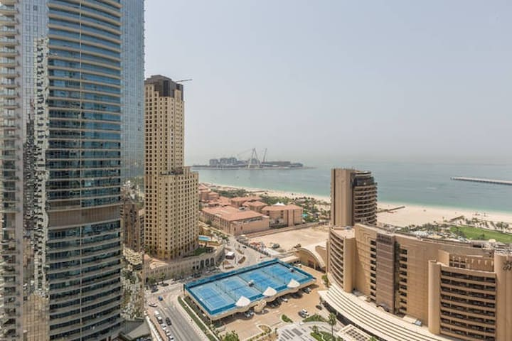 Marina Sea-View Room w/ private bathroom & balcony - Dubaj - Apartament