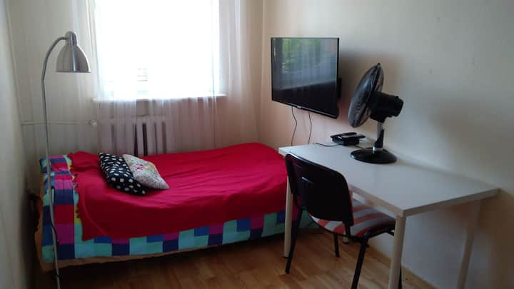 Single room for 2, close to the center of Warsaw