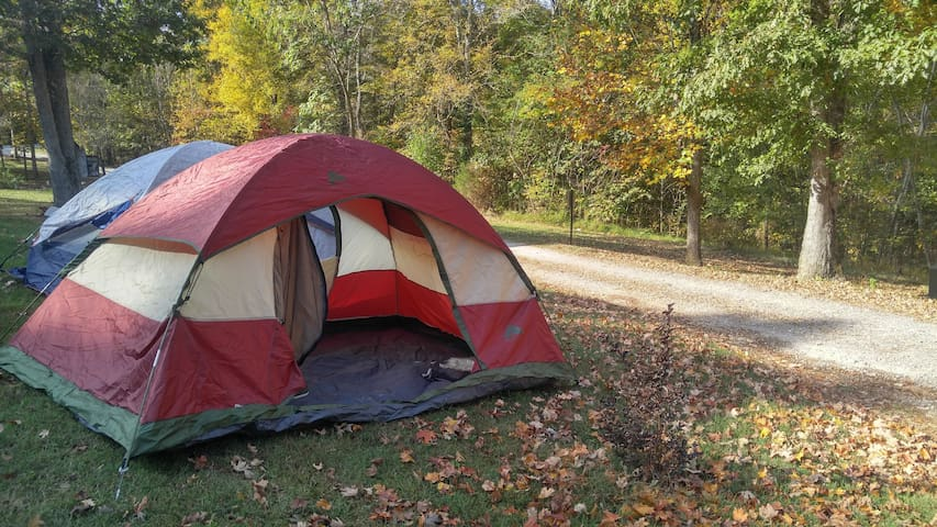 Solar Eclipse 1 tent Primative Site