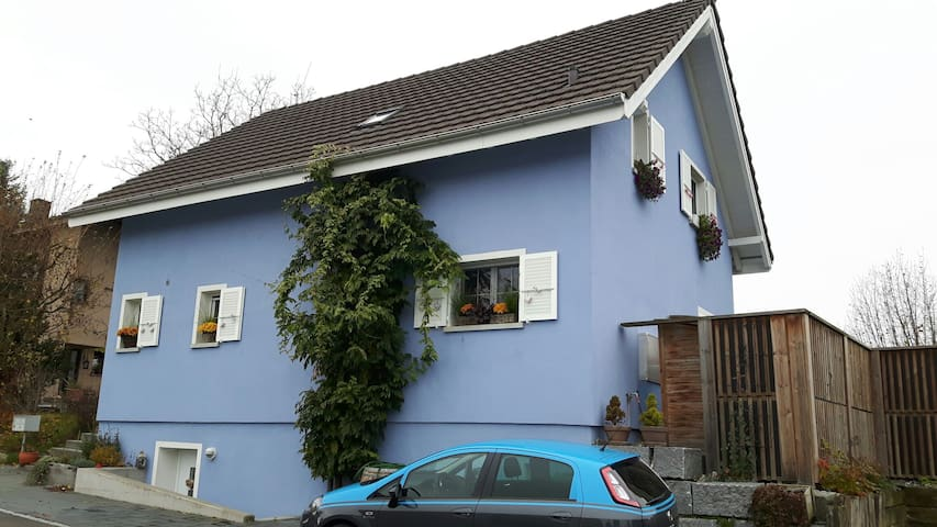 Gemütliches Zimmer im blauen Haus - Biel-Benken - Daire