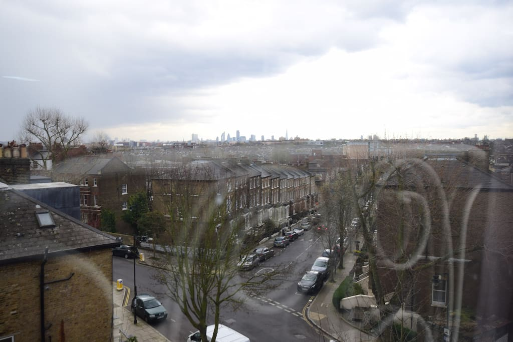 Picture taken from the bedroom facing south East of London