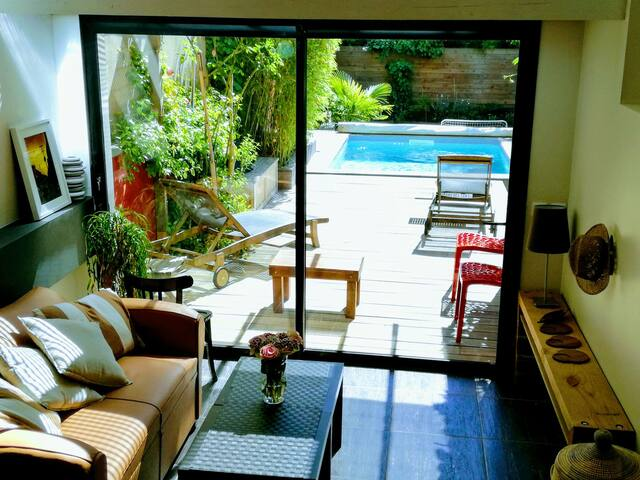 Appt dans échoppe bordelaise avec jardin & piscine - Bordeaux - House