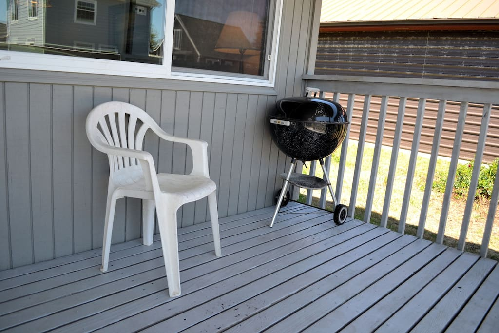 Porch with charcoal BBQ