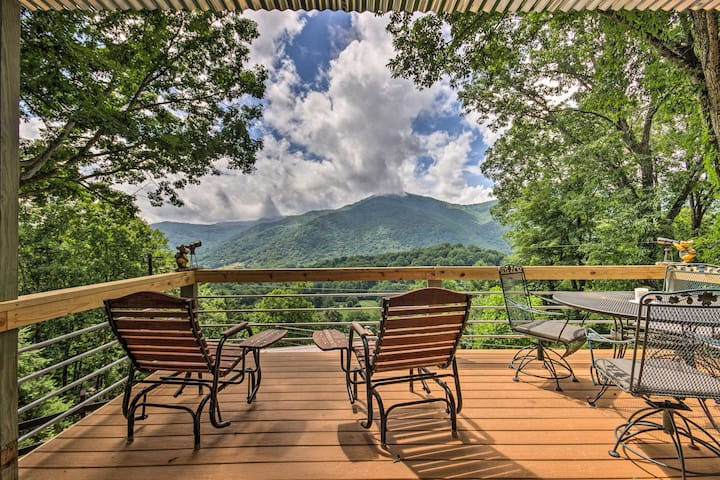 Maggie Valley Home w/Blue Ridge Mtn View & Hot Tub