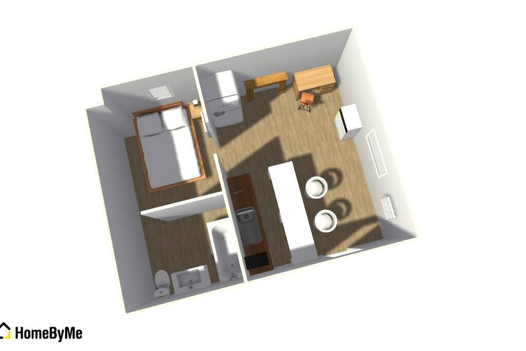 Plan du logement en 3D