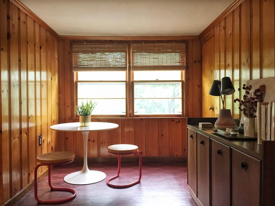 Living room breakfast nook