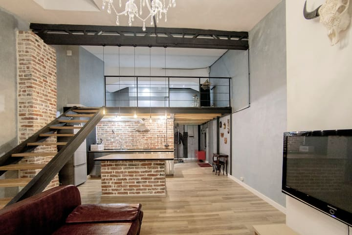 90 m2 Loft Near the Center Area - Moskva - Serviced apartment
