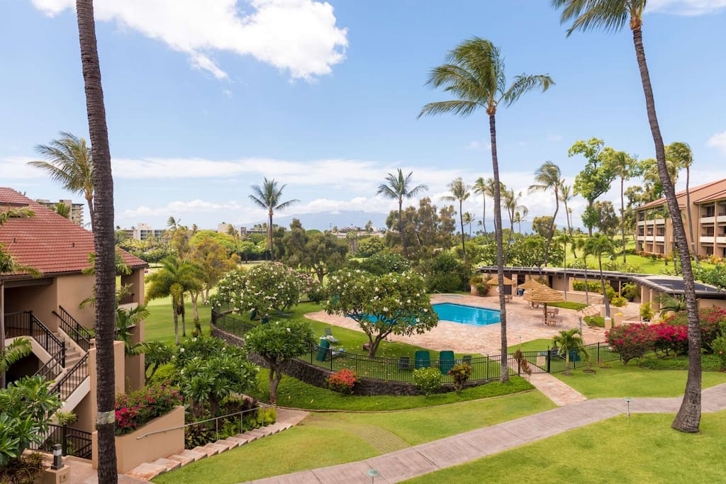 Kaanapali Royal Resort is on the 16th fairway of the Robert Trent Jones Royal Kaanapali Golf Course - walk or take the trolly to Whal