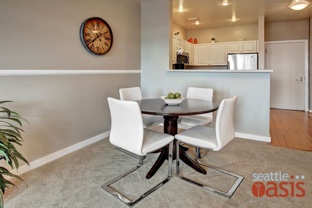Prefer a night in? There's space to gather around the table.