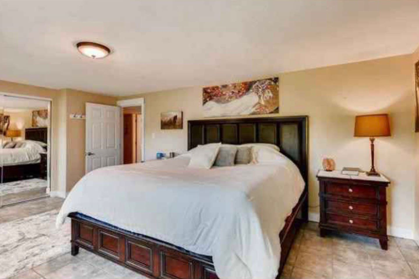 Master bedroom with California King Pillow Top