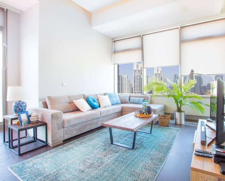 Dapper 2BR at 42 Maslak with Pool & City View