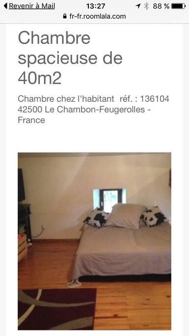 Cette grande pièce à deux lits doubles mais je peux prêtées  1 matelas gonflables double  et 2 lits bébés ,