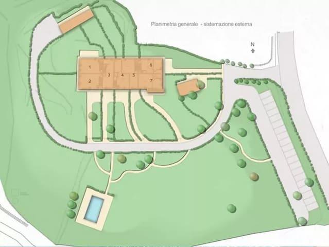 Appartamento I Glicini con piscina condivisa - Lucolena In Chianti - Apartamento