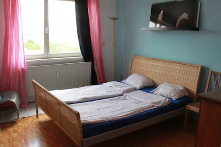 Double bedroom with a nice view - Maribor