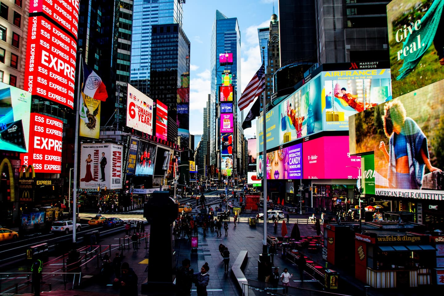 Steps away from Times Square and Broadway!