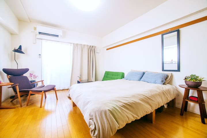 Clean, Modern, Convenient + WiFi, 403 - Nagoya-shi - Apartamento