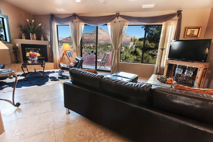 Breathtaking Red Rock Views, Pvt 1BR Villa Suite