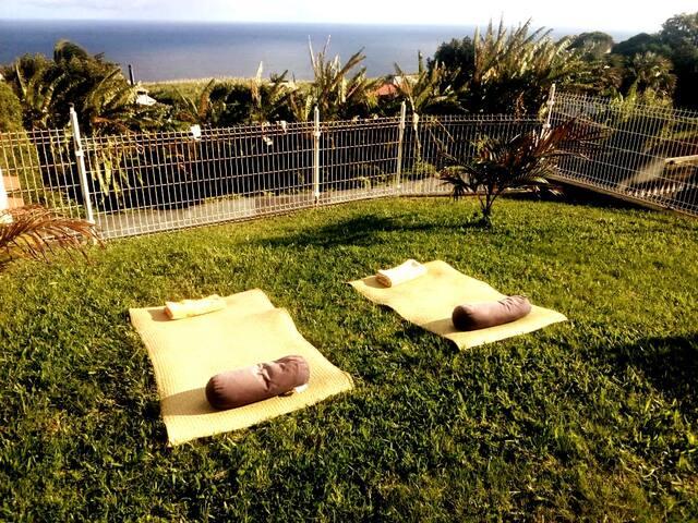 Chambres, GRANDE ANSE, villa créole, vue sur mer.