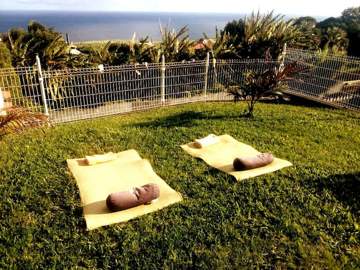 GRANDE ANSE. Chambres, Villa vue sur mer.