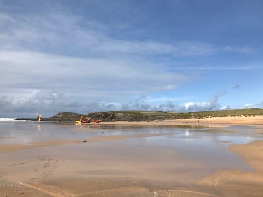 Lifeguards at Constantine Bay - 5 mins walk
