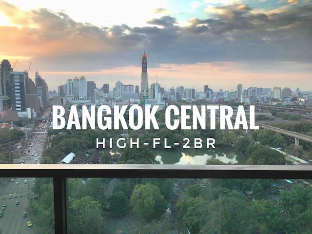 曼谷市中心超高层两卧室高级公寓Central Bangkok High FL 2BR