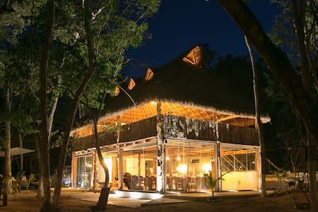 Casa Maktsil hermosa palapa en la selva de Tulúm