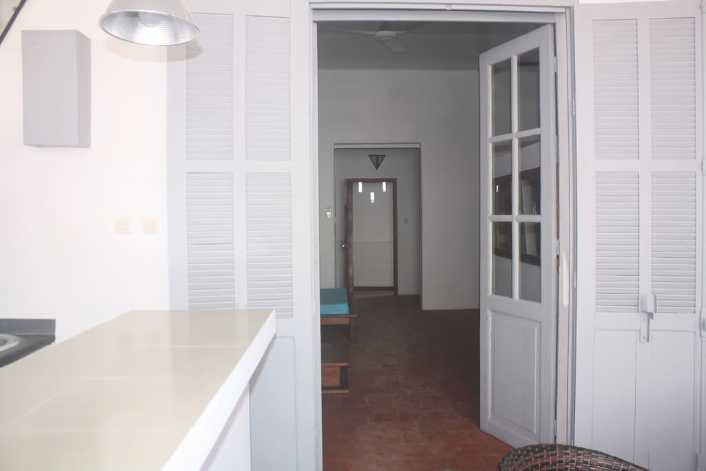 Vue chambre par l'extérieure