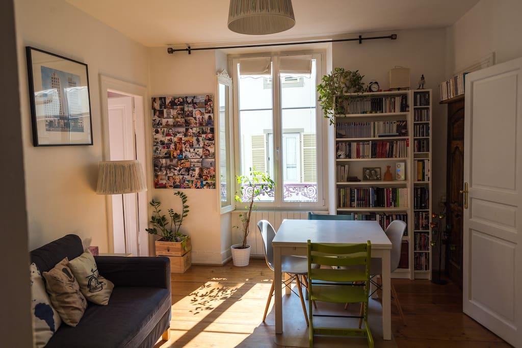 L'espace salon - salle à manger