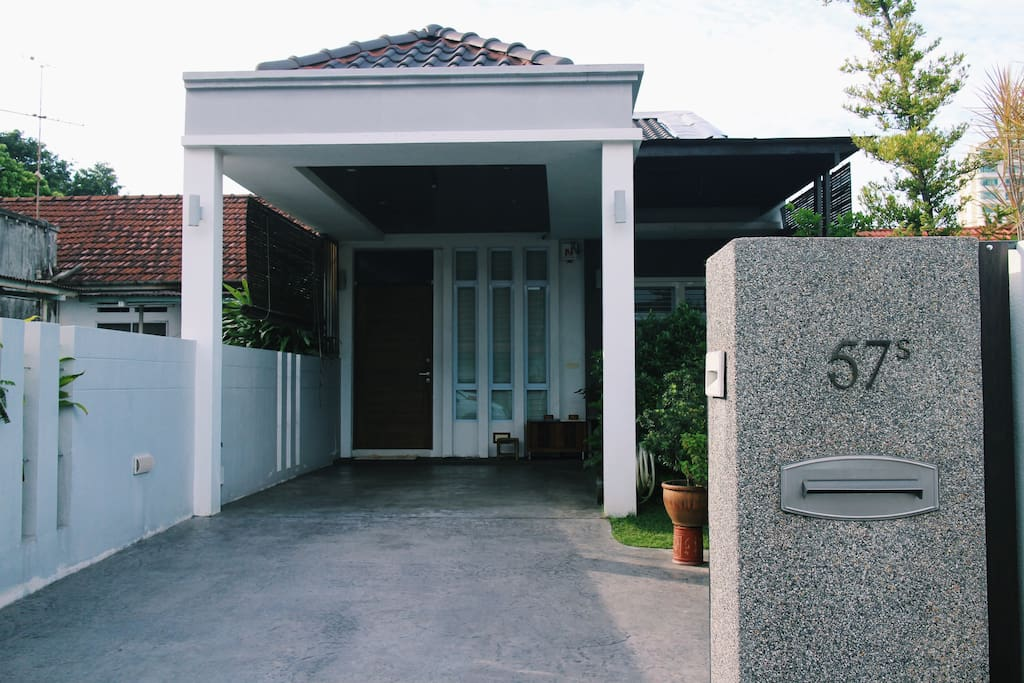 57S our house's number.  Porch with 2 car parking space, can be used as barbecue area as well.