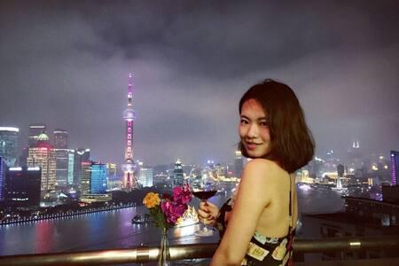 Top River view Jacuzzi 无敌江景房按摩浴缸大阳台 - Shanghai - Flat