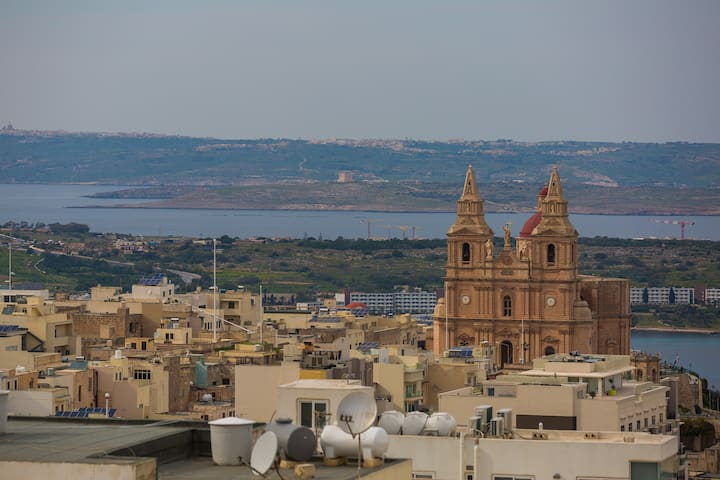 Attico con vista mare - Mellieħa - Departamento