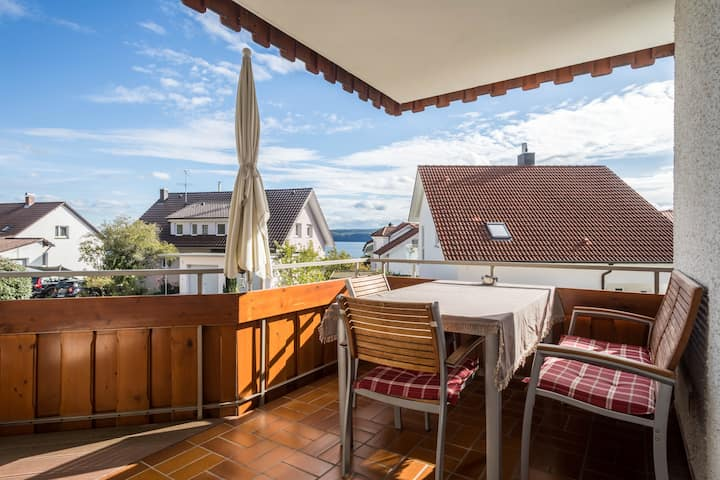 "Inviting Holiday Apartment ""Ferienwohnung Lindau"" with Covered Balcony and Lake View, Wi-Fi & TV; Parking Available"