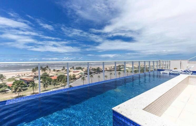 Flat novinho à Beira Mar da praia de Atalaia.