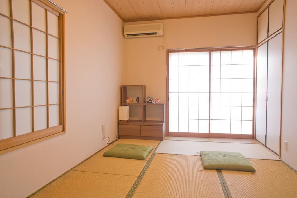 Day time.Japanese style  tatami room.