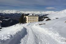 Hotel Weisshorn im Val d ' Anniviers. Sommer und im Winter ein schönes Ausflugsziel.