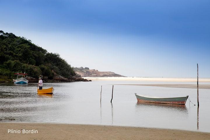 Casa frente ao mar - quitinete para 2 pessoas