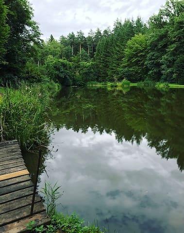 Charmant chalet avec étang privatif
