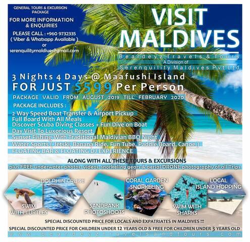 3 Nights 4 Days Package at Maafushi Maldives