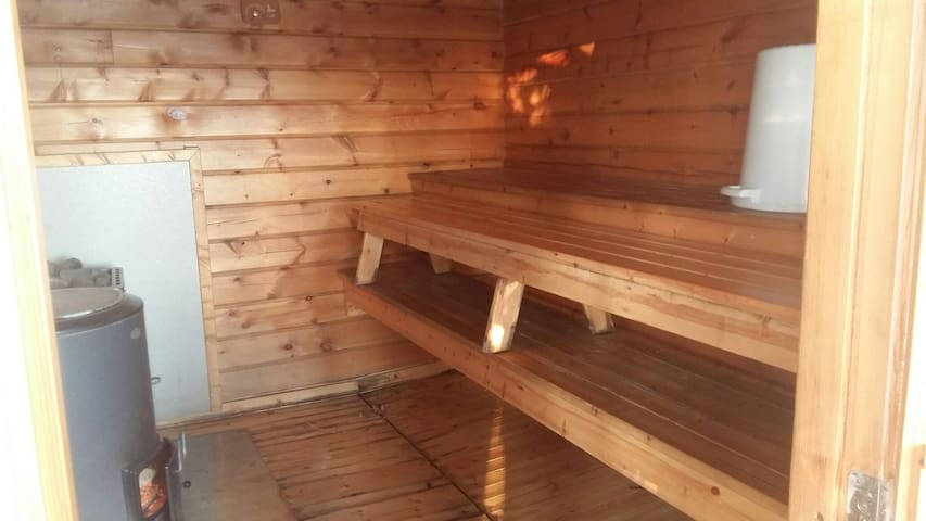 Sauna and bathing space