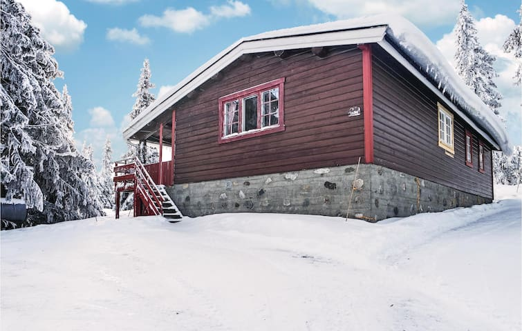 Holiday cottage with 4 bedrooms on 90 m² in Sjusjøen