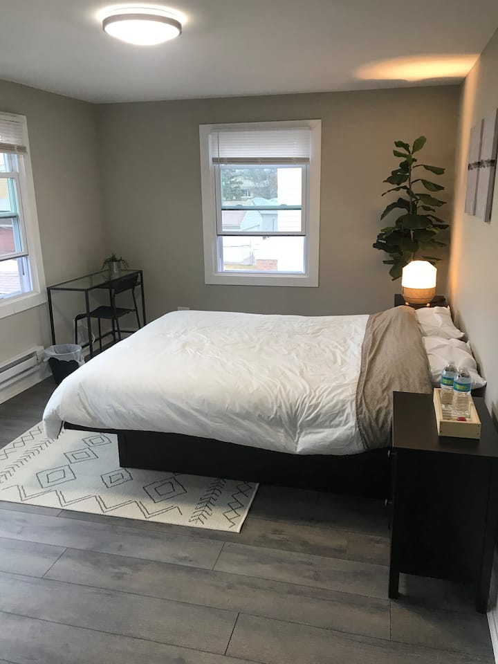 (F) Private, Furnished Bedroom in Chicago Suburb