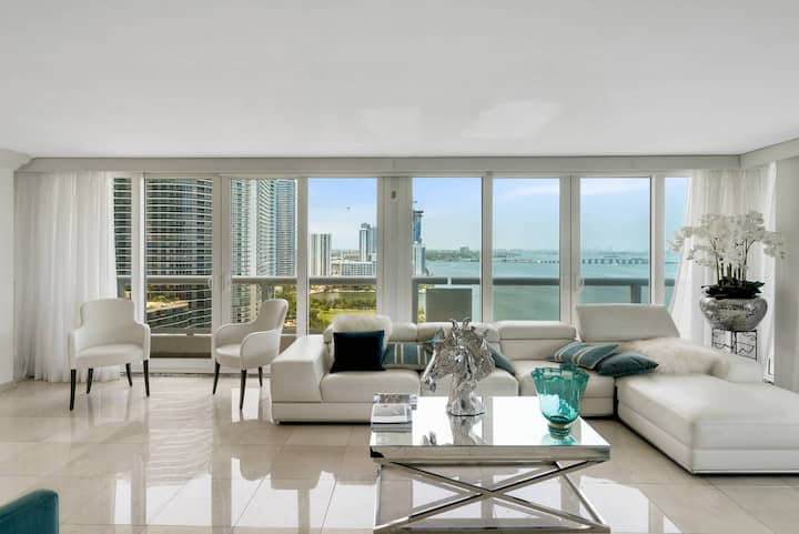 The Grand Downtown Miami | Two Bedroom Direct Bayfront + Free Parking