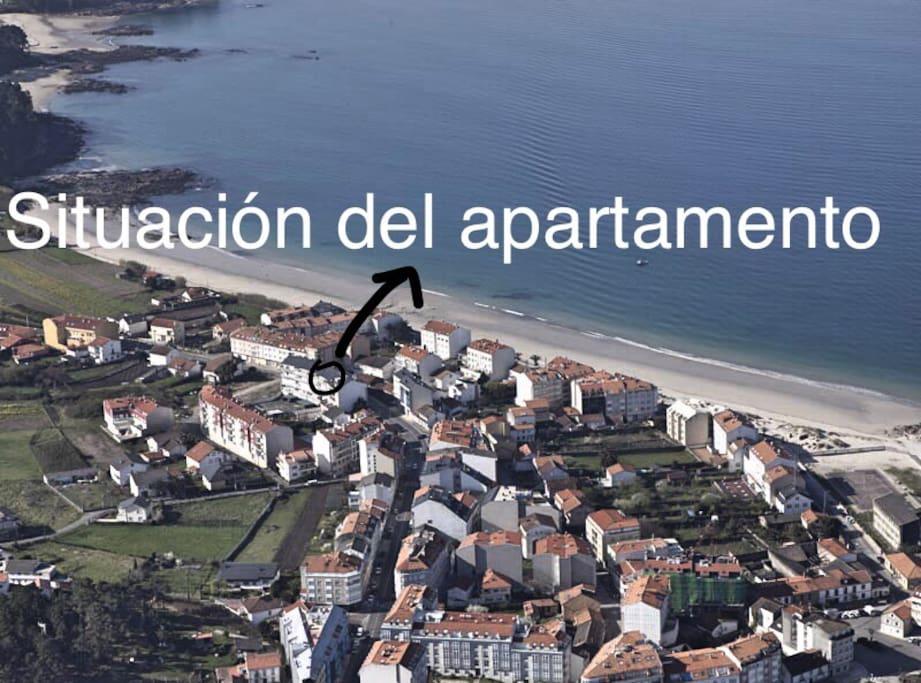 El apartamento se encuentra a 50m de la playa de Coira