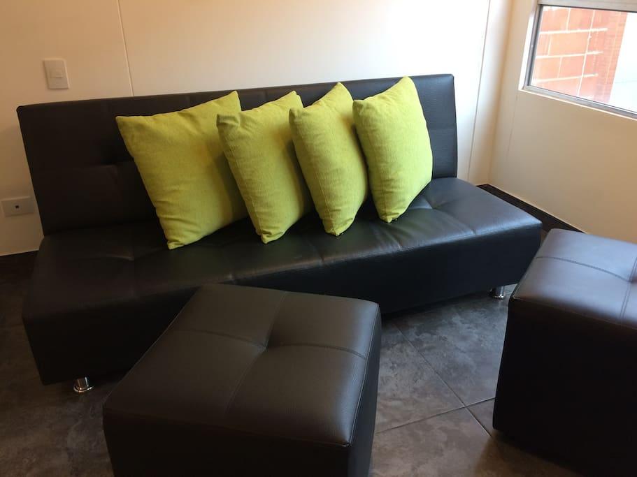 Sala - sofá cama.