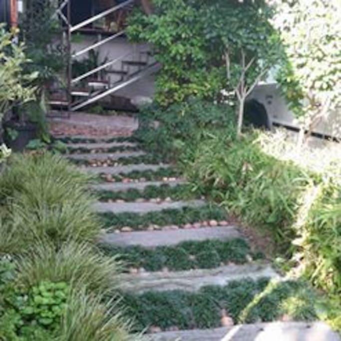 path to front door