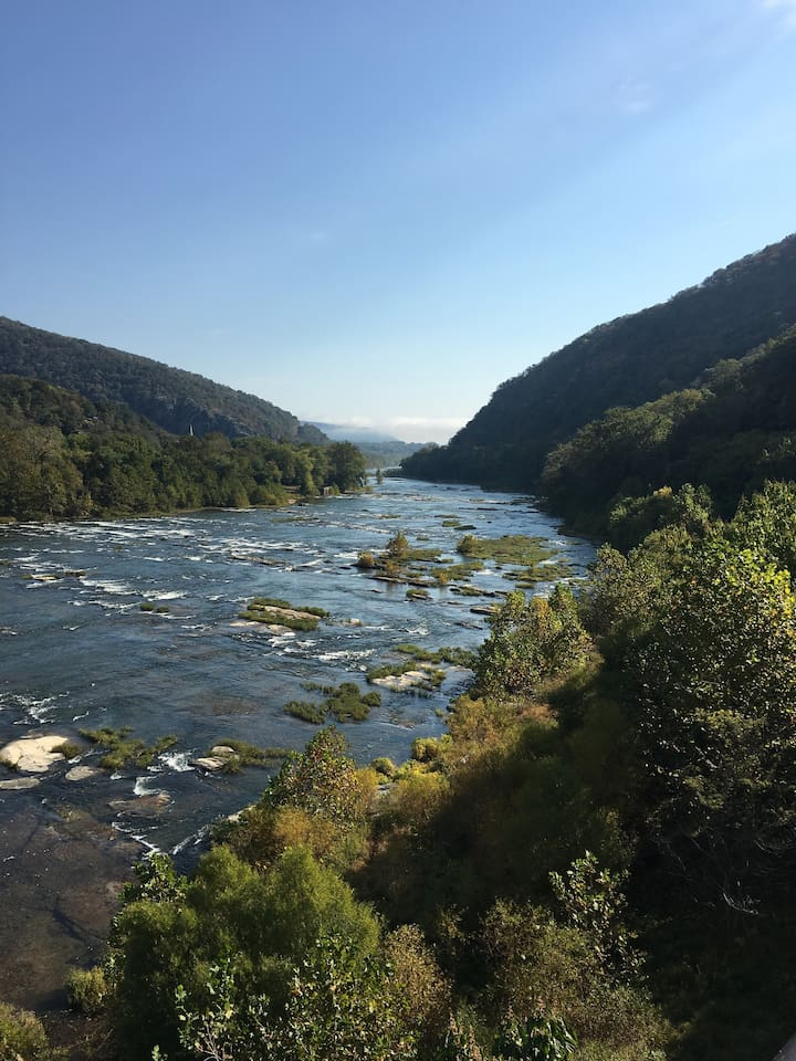 View of Potomac River from Loudoun Heights Va.